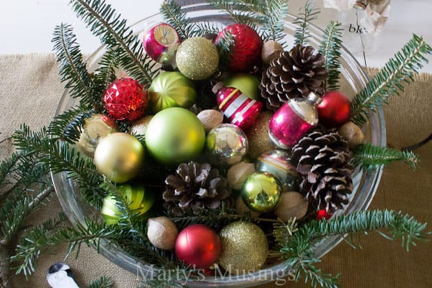 Rustic Christmas Tablescape from Marty's Musings