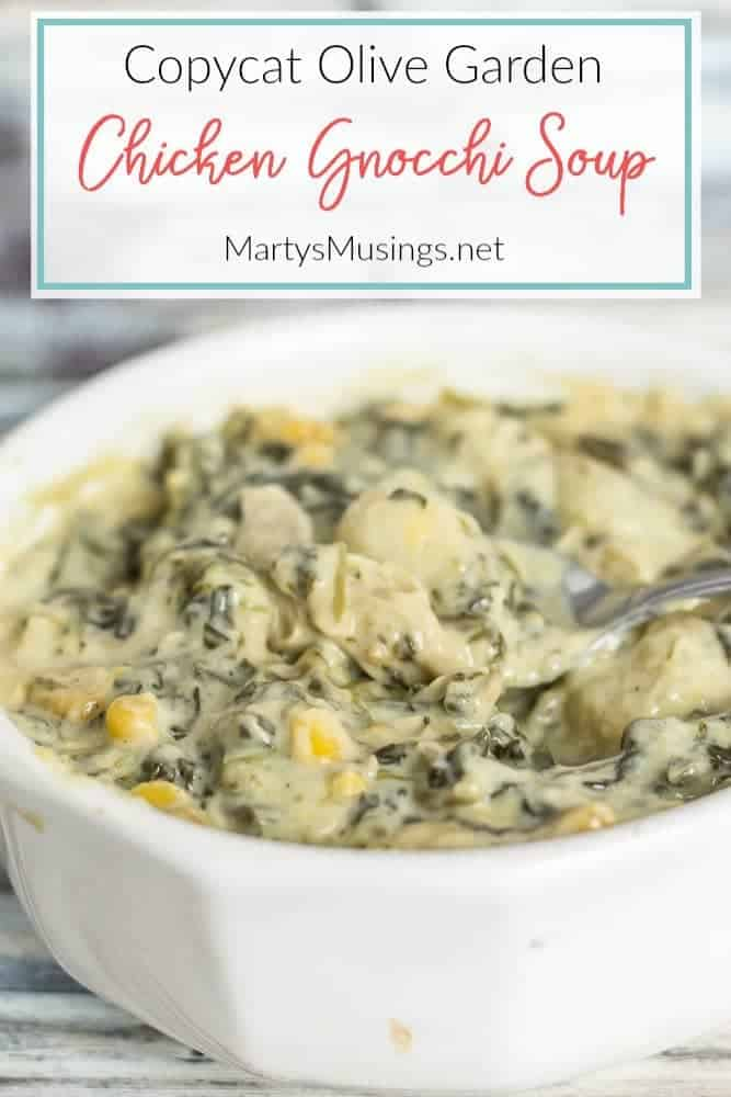 copycat Olive Garden slow cooker chicken gnocchi soup recipe