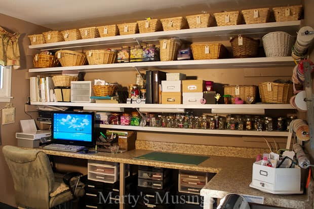 Craft Room Storage from Marty's Musings