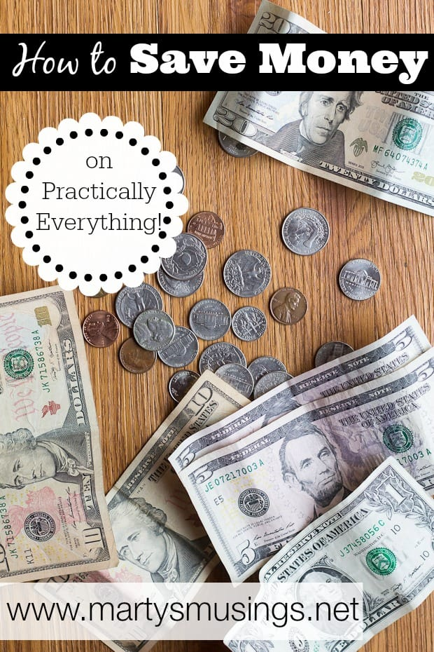 Practical ways to save money on practically everything, from food, clothing and other family expenses through yard sales, thrift stores, craigslist, bartering and couponing.
