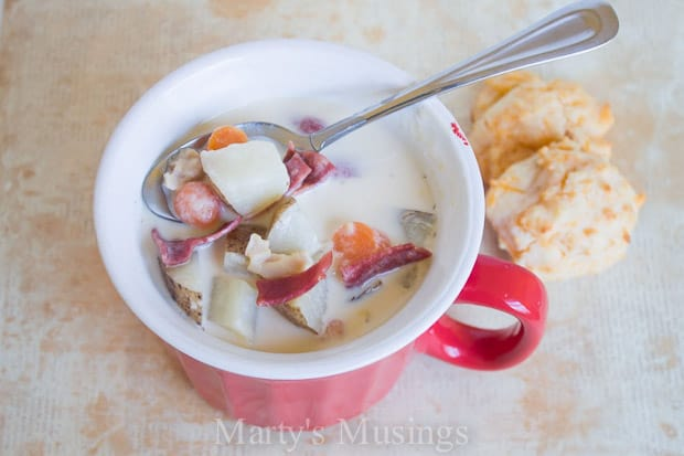 Slow Cooker Clam Chowder - Marty's Musings