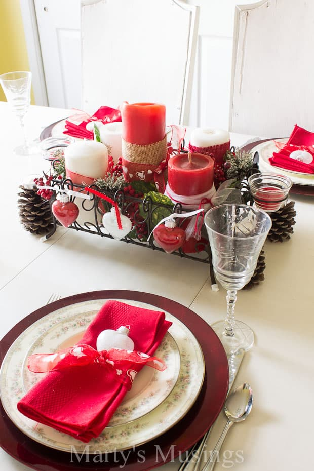Valentineu0027s Day Table Setting - Martyu0027s Musings & Valentineu0027s Day Tablescape | Martyu0027s Musings