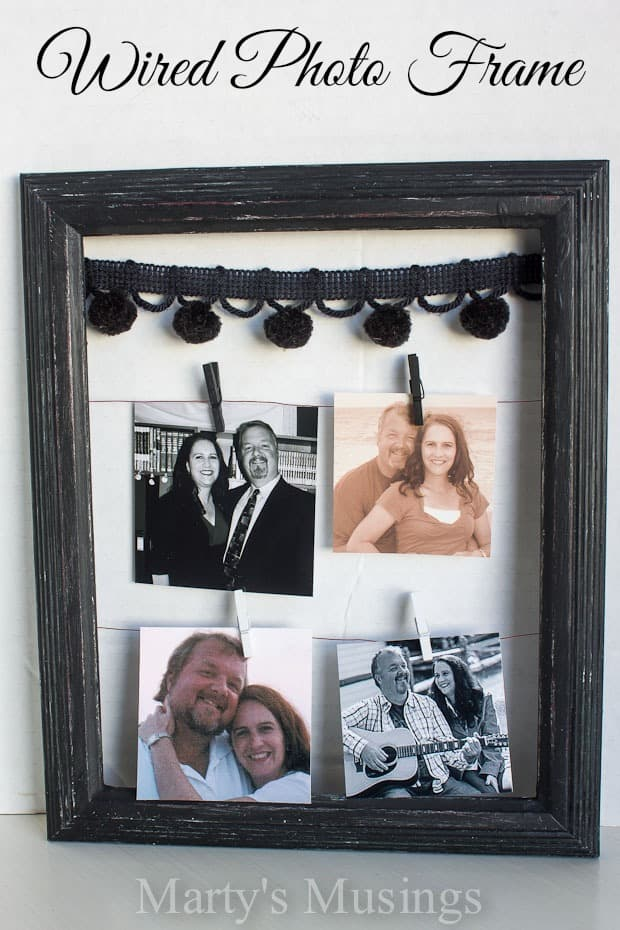Wired Photo Frame for Wedding or Anniversary