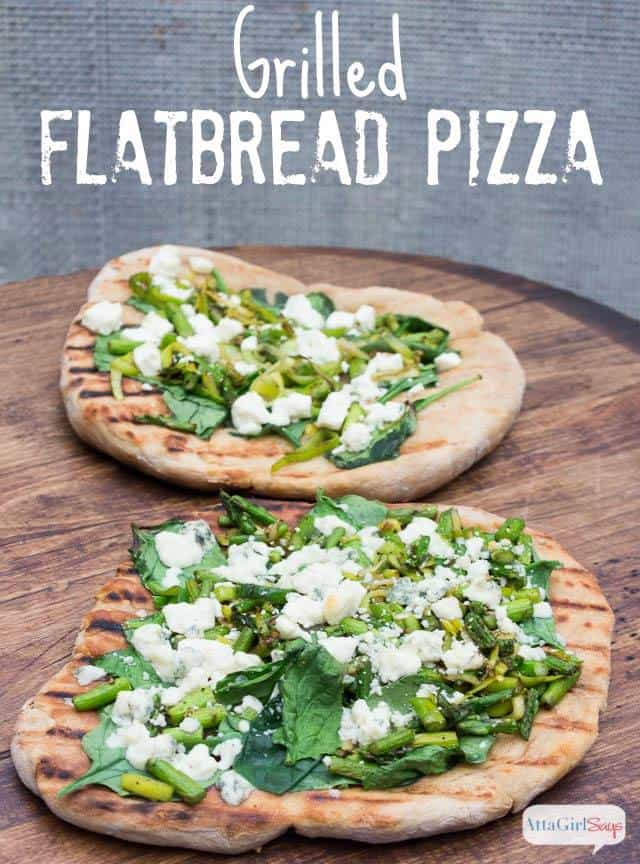 Grilled Flatbread Pizza - Atta Girl Says