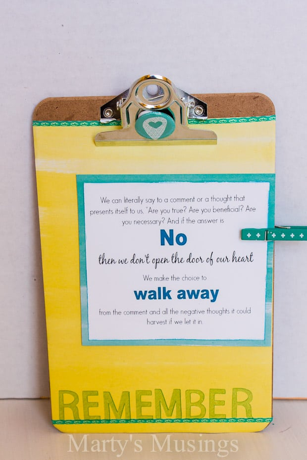 Altered Mini Clipboard - Marty's Musings