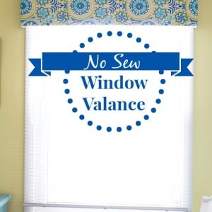 No Sew Window Valance - Marty's Musings