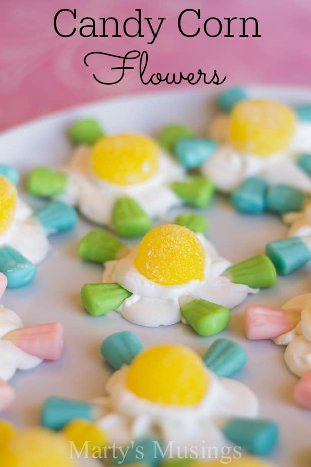 Candy Corn Flowers - Marty's Musings.