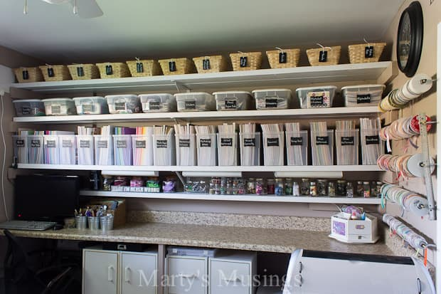 Craft room makeover and organization ideas marty 39 s musings for Craft supplies organization ideas