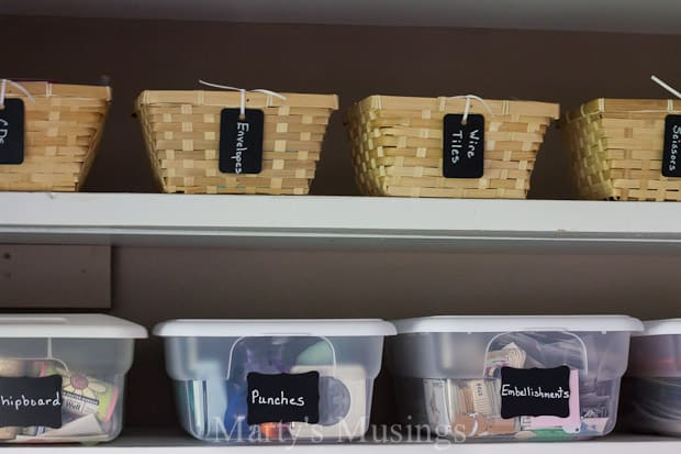 Organize with DIY Chalkboard Tags - Marty's Musings