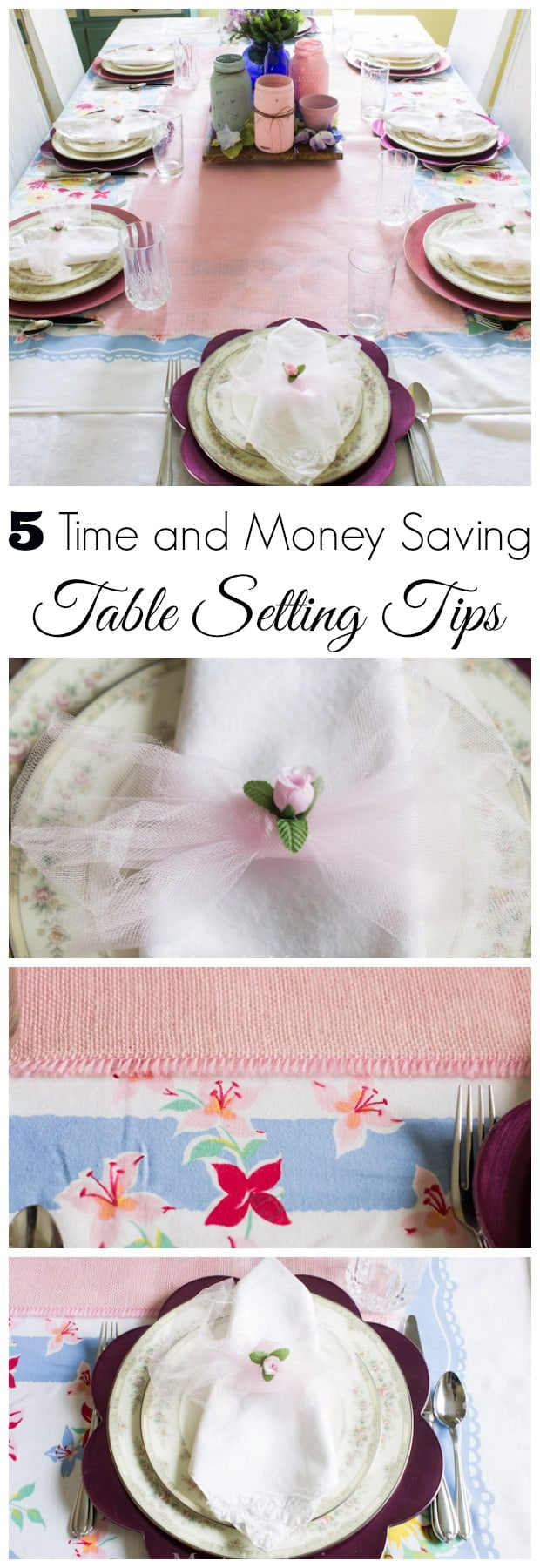 5 Time and Money Saving Table Setting Tips - Marty's Musings