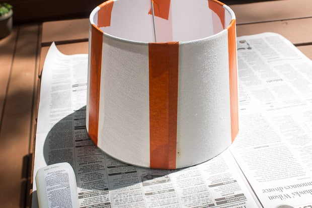Painted Lamp Shade Makeover With Textured Surface FrogTape®   Martyu0027s  Musings