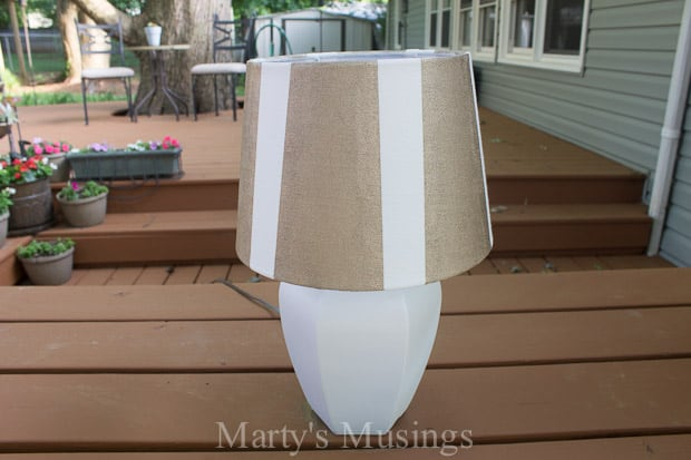 Painted Lamp Shade Makeover with Textured Surface FrogTape®