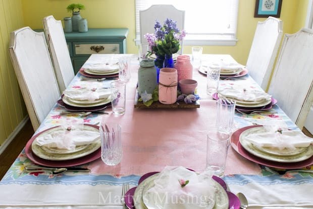 5 Time and Money Saving Table Setting Ideas - Marty's Musings