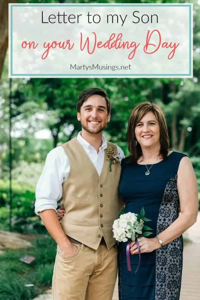 Letter to My Son On Your Wedding Day: Bittersweet Reflections