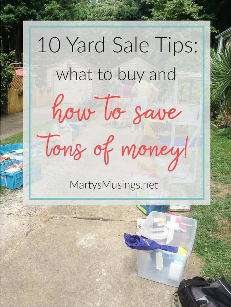 This must have list of top 10 yard sale bargains will save you thousands with what to shop for at yard and garage sales, thrift stores and craigslist!