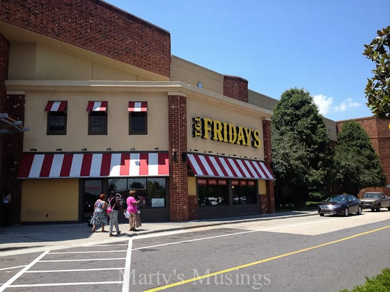 Celebrating with TGI Fridays Restaurant - Marty's Musings