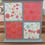 DIY Makeup Drawers Using Scrapbook Paper