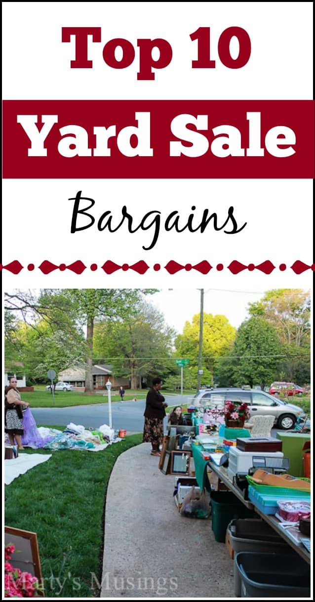 Top Ten Yard Sale Bargains to save money - Marty's Musings