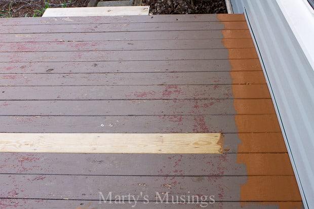 wood deck restoration with behr premium deckover marty 39 s musings. Black Bedroom Furniture Sets. Home Design Ideas