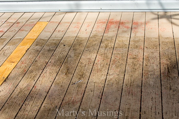 Wood Deck Restoration with Behr Premium Deckover® - Marty's Musings