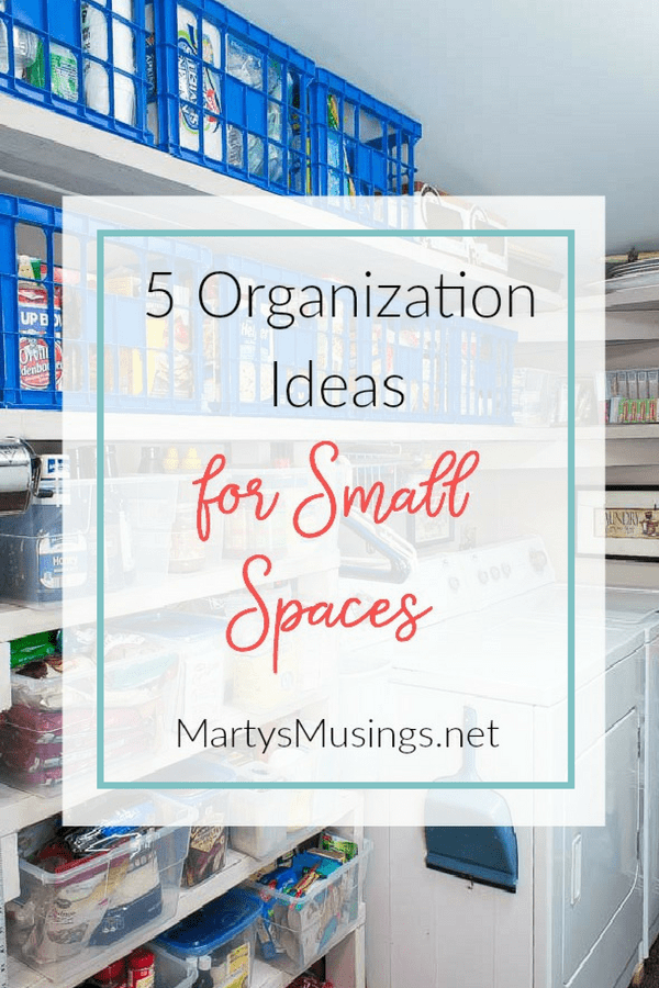 These smart organization ideas for small spaces include 5 ways to make the best of your space by using clever and inexpensive storage options.