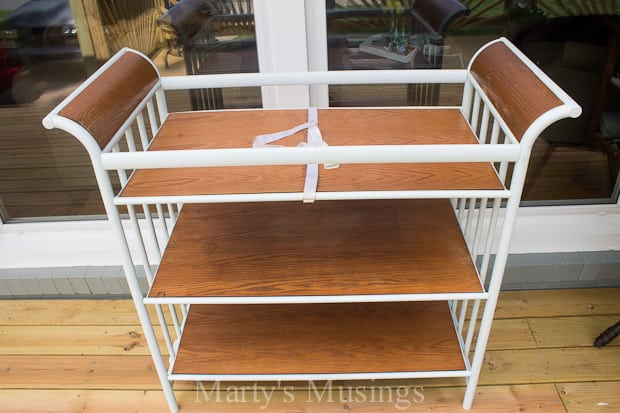 DIY Changing Table Turned Garden Cart - Marty's Musings