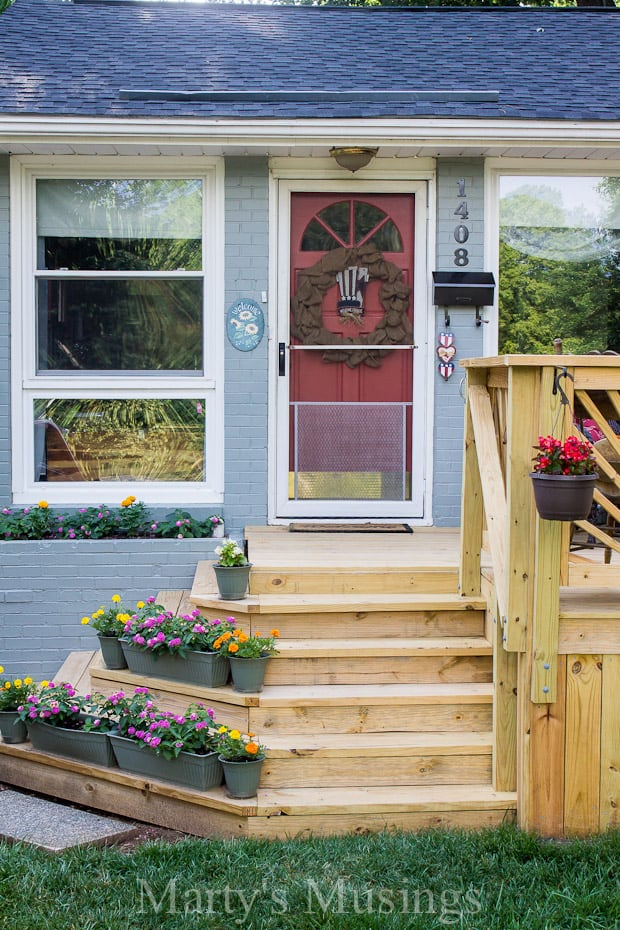 Deck reveal for Building a front porch deck