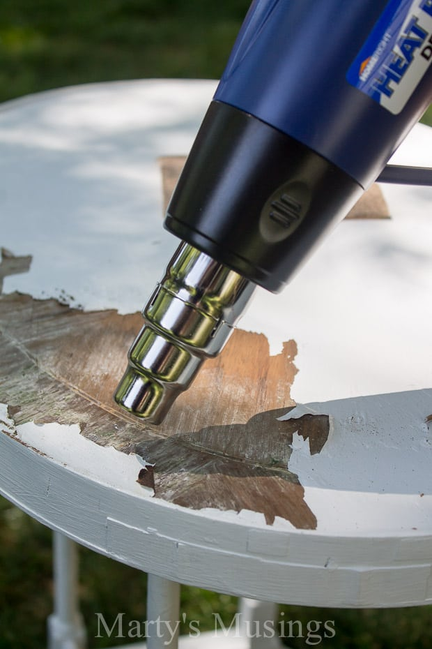 How to Strip Paint from Wood - Marty's Musings