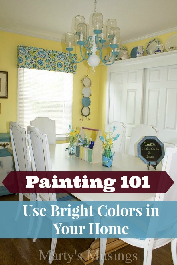 How to use Bright Paint Colors in Your Home - Marty's Musings