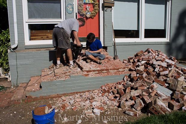 Jackhammer Demolition- Part Two of Our Dream Deck - Marty's Musings