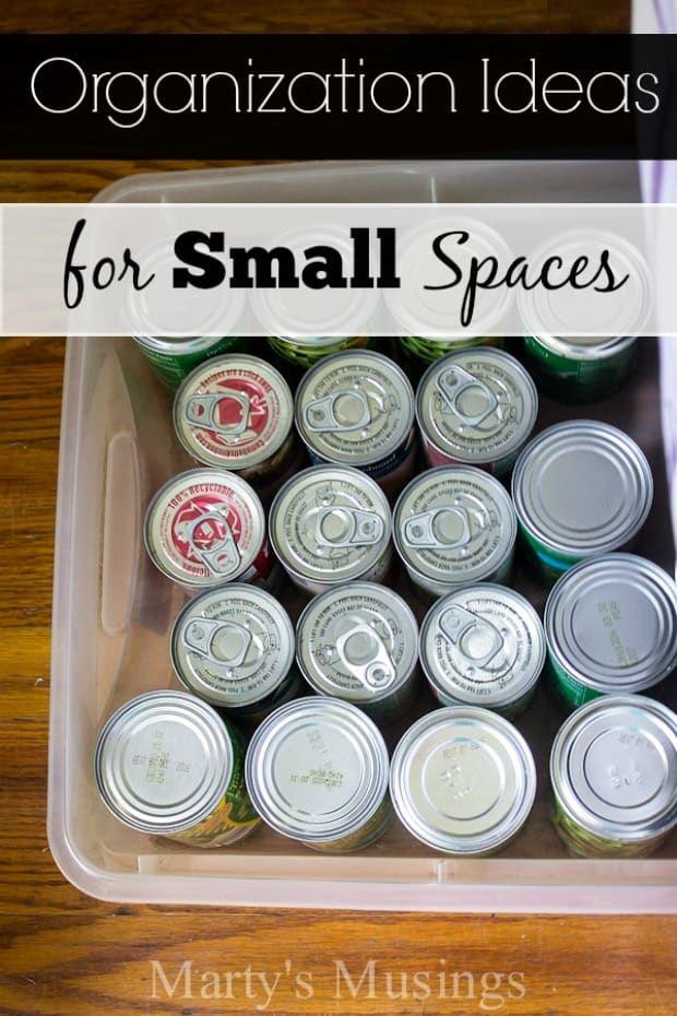 Organization Ideas for Small Spaces - Marty's Musings