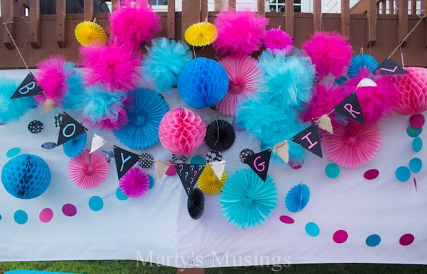 Gender Reveal Party Banner - Marty's Musings
