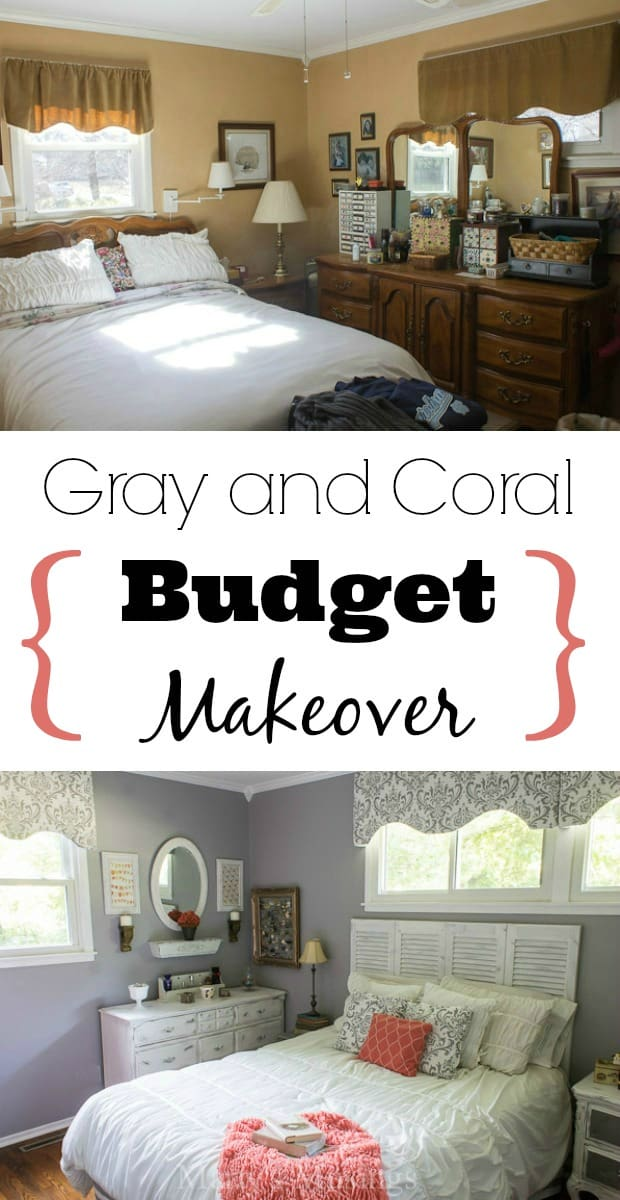 Elegant Gray And Coral Master Bedroom Reveal   Martyu0027s Musings