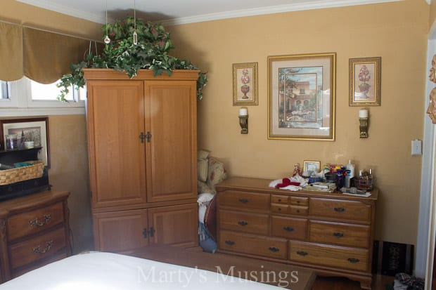 Gray and Coral Master Bedroom Reveal - Marty's Musings