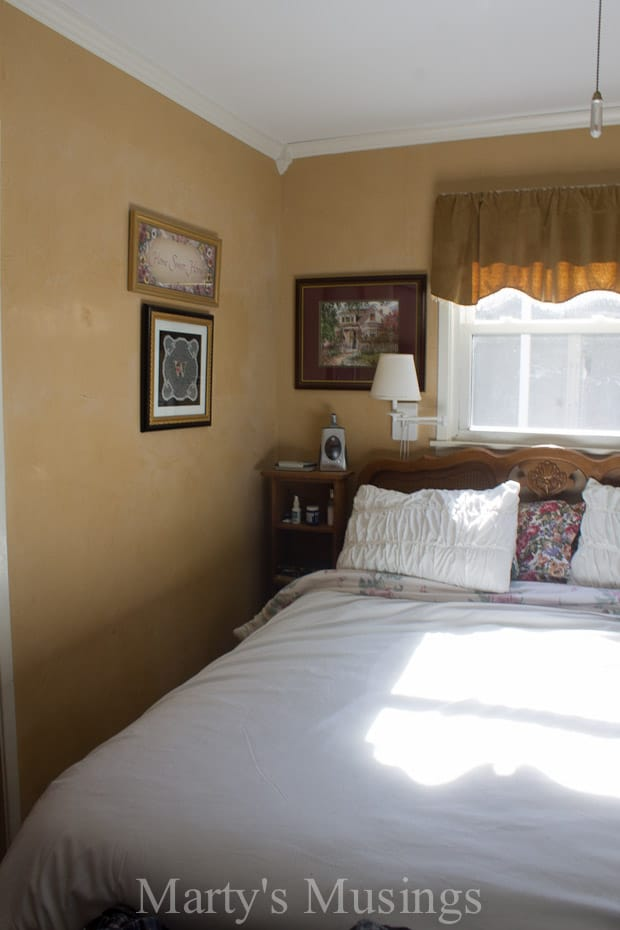 Gray and Coral Master Bedroom Makeover - Marty's Musings