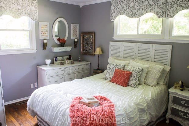 Beautiful Gray And Coral Bedroom Makeover   Martyu0027s Musings