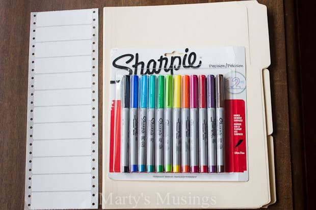 Organizing Home and Work with Sharpie Markers