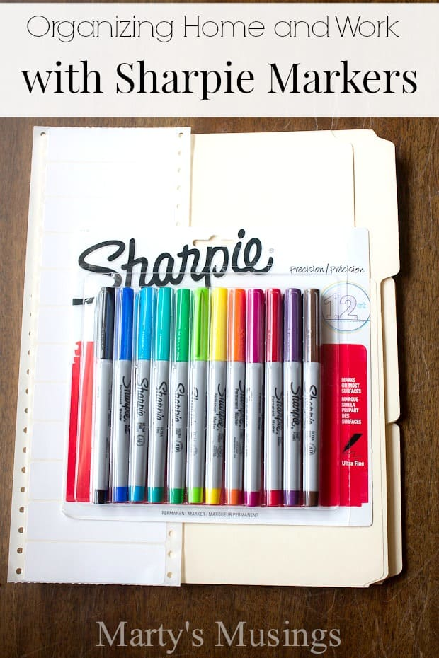 Organizing Home and Work with Sharpie Markers - Marty's Musings #StaplesBTS