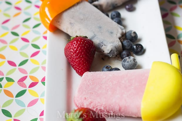 Strawberry Smoothie Popsicles - Marty's Musings