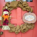 5 Minute Dollar Store and Burlap Wreath