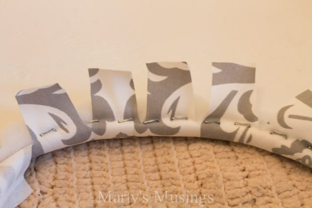 No Sew Fabric Window Valance - Marty's Musings