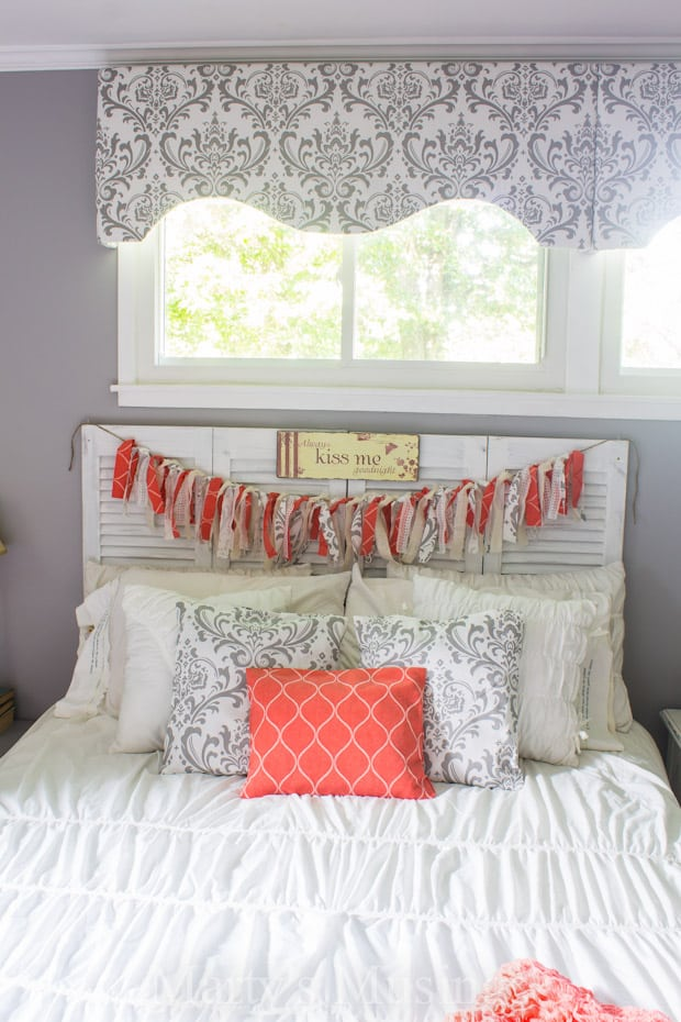 No Sew Fabric Window Valance - Marty's Musings