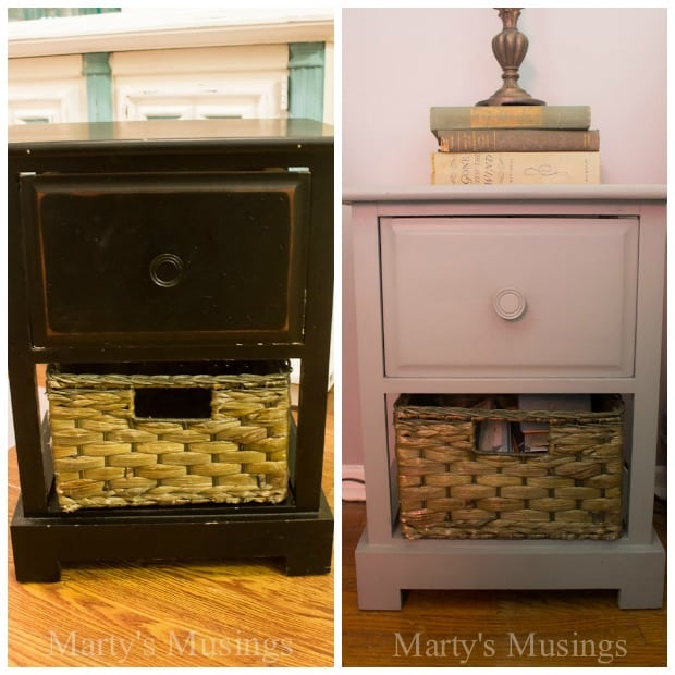 Painted Side Table Before and After - Marty's Musings