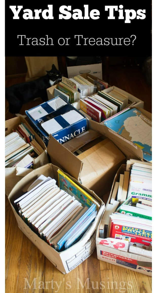 Yard Sale Tips: Trash or Treasure? from Marty's Musings