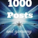1000 Posts and Giveaway - Marty's Musings