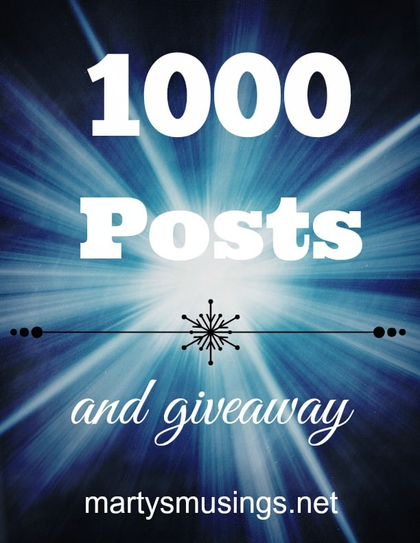 1000 Posts, a Piece of my Heart and a Giveaway!