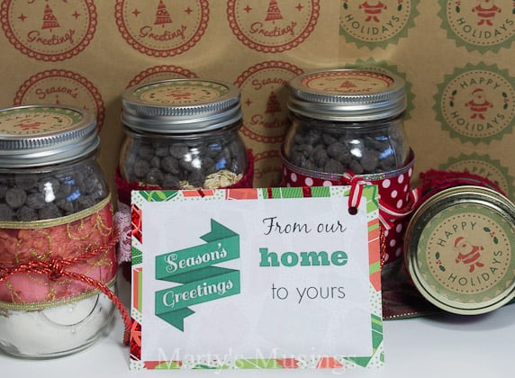 Christmas Mason Jar Label and Tags - Marty's Musings
