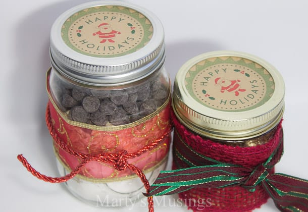 ... labels that could easily be added to a mason jar gift (free printables