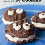 Cookie Monster Brownie Cookies - Marty's Musings