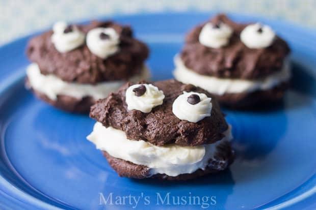 Cookie Monster Brownie Cookies